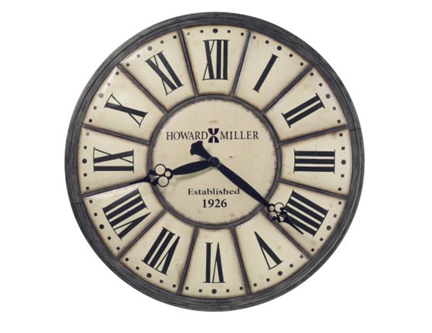 Off-White and Antique Nickel Wall Clock