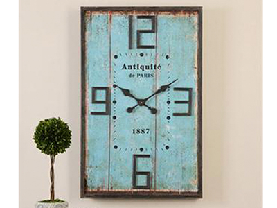 Antiqued Wood Panel Wall Clock