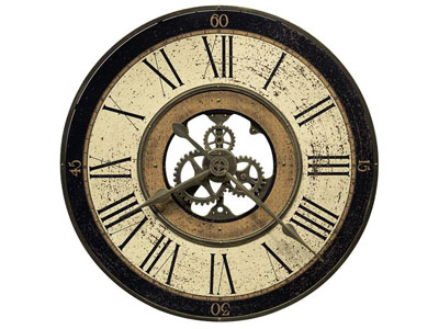 Howard Miller Brass Works Wall Clock 32""