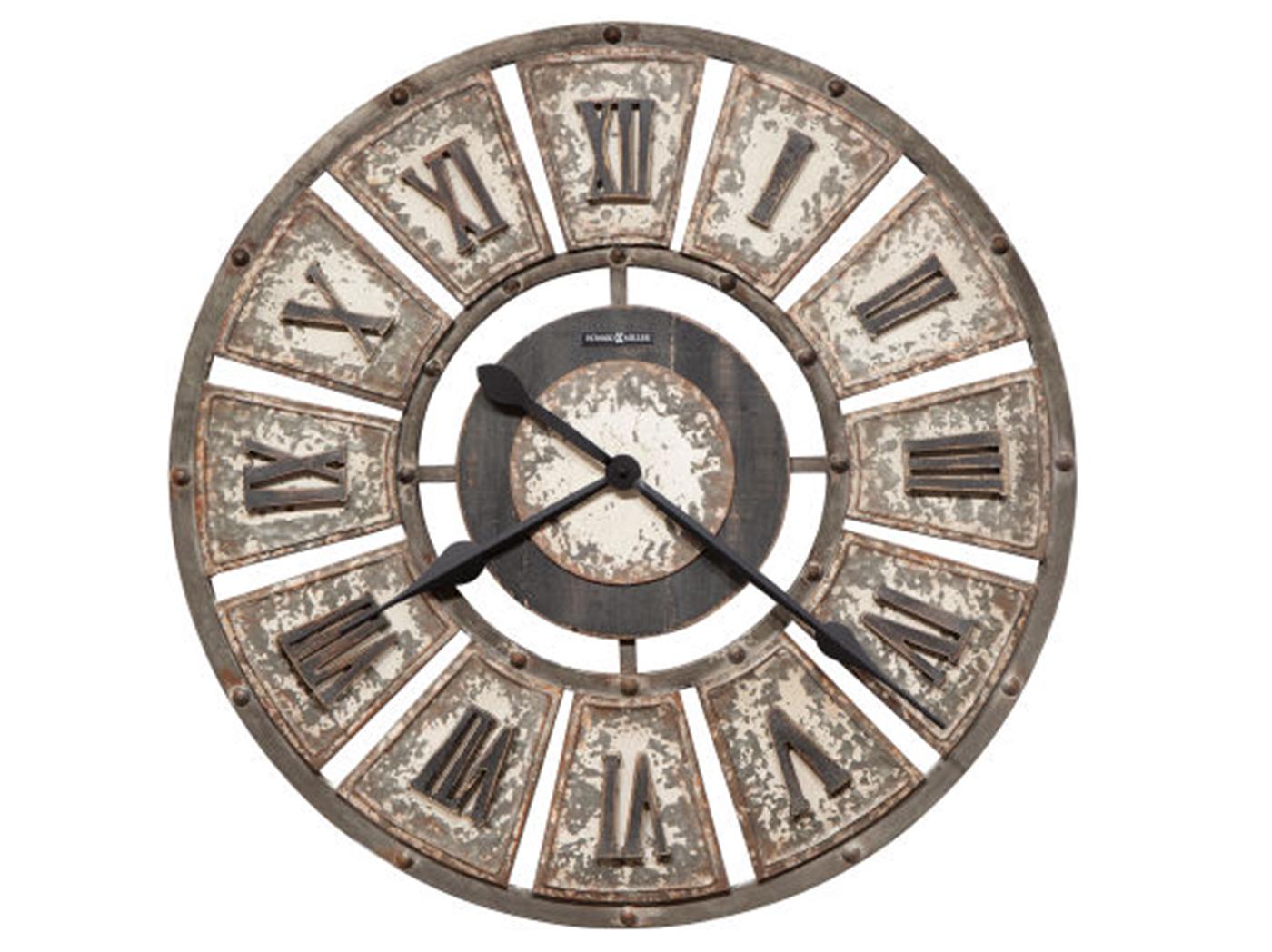 Howard Miller Rustic Charcoal Wall Clock 32""