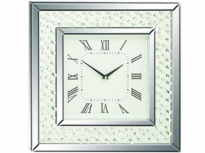 "Bling Mirrored Wall Clock 20""W x 20""H"