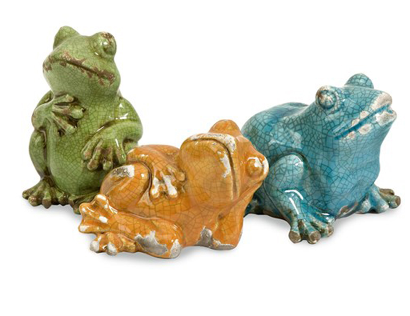 "Set of 3 Frogs 4""H"