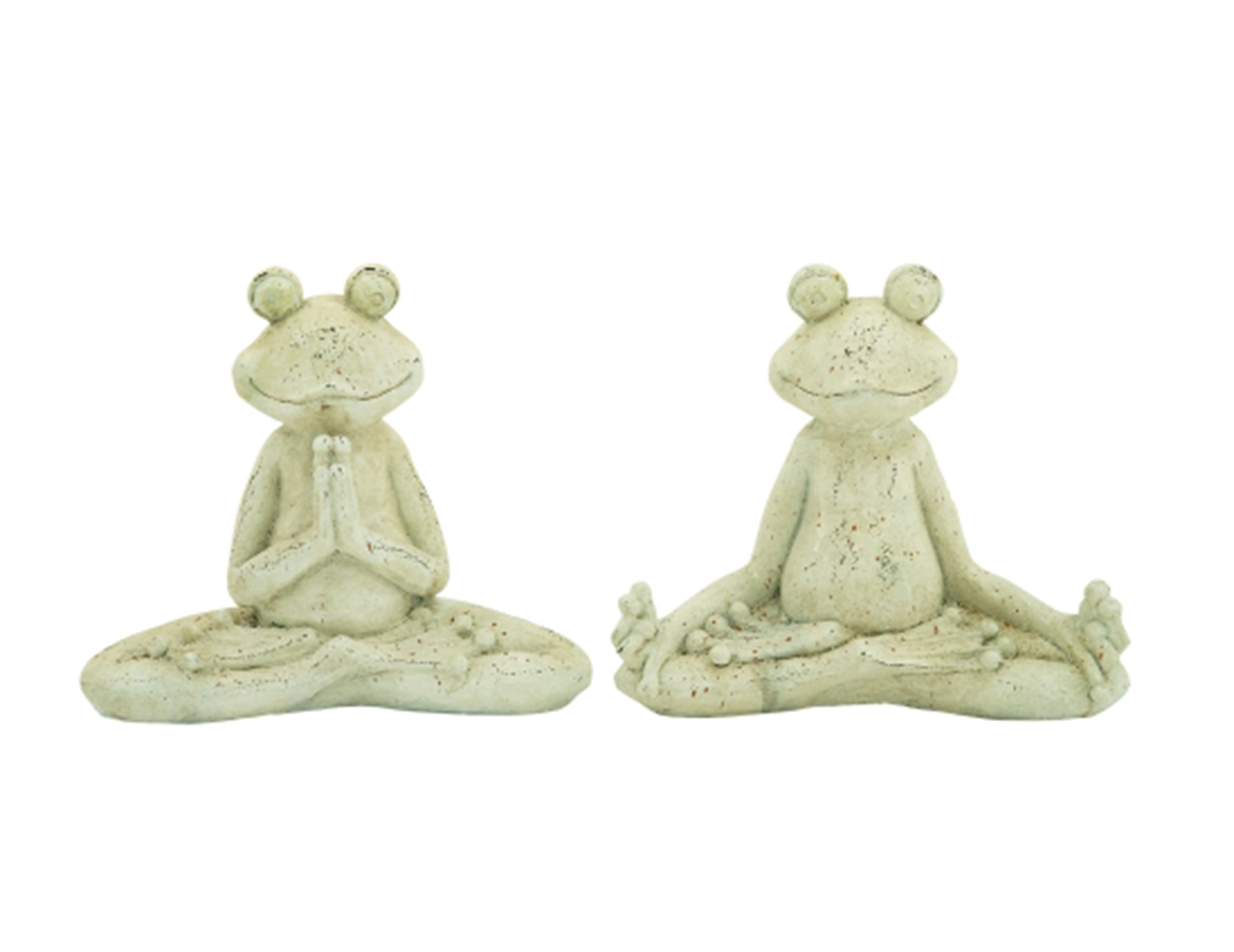 Assorted Yoga Frog Statue 16X14""