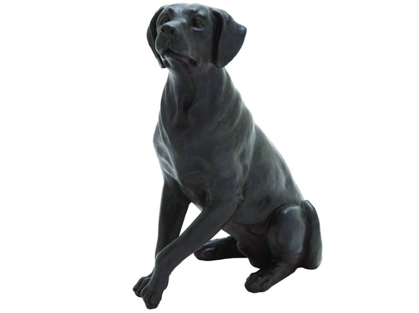 "Sitting Black Lab Statue 14""W x 20""H"