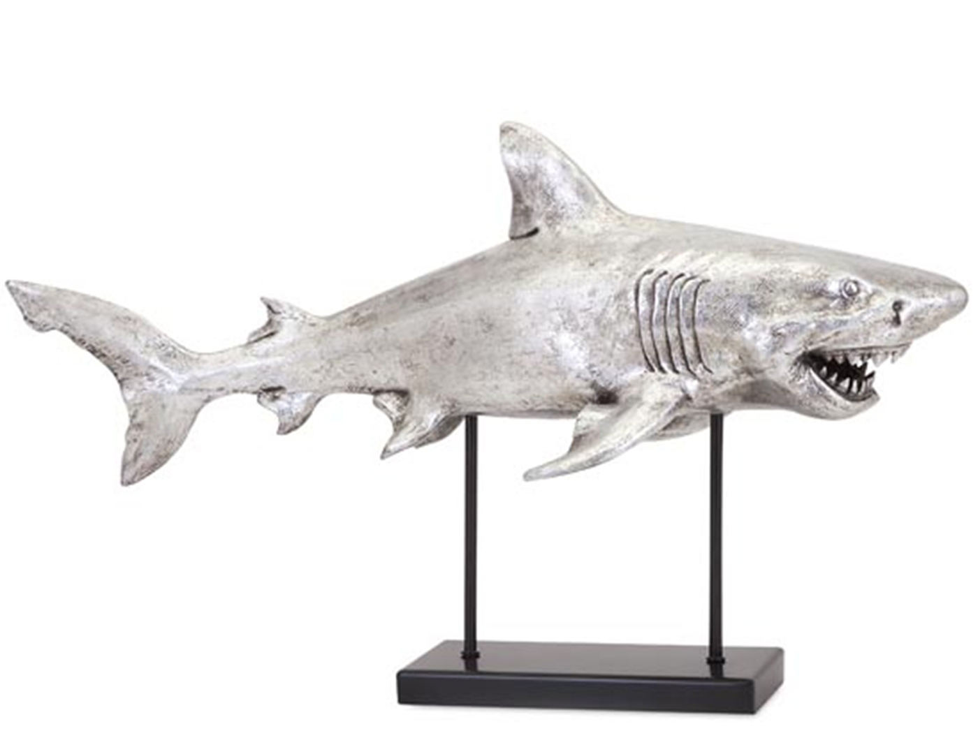 Great White Shark Sculpture 28X17""