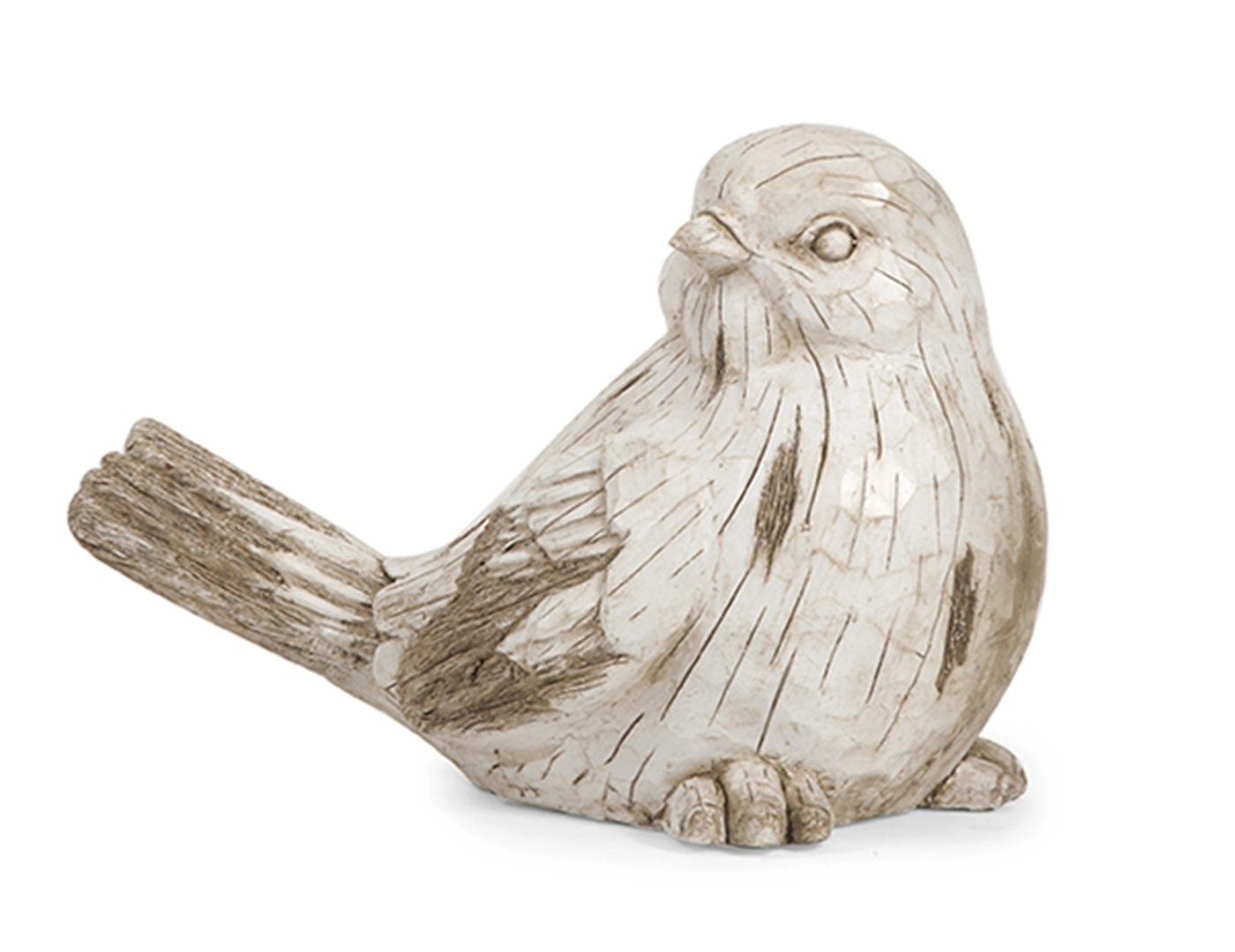 Aged White Bird Sculpture