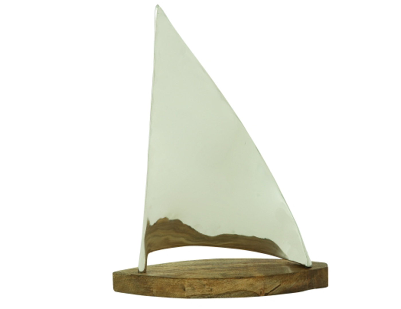 "Metal and Wood Sailboat 14X19""H"