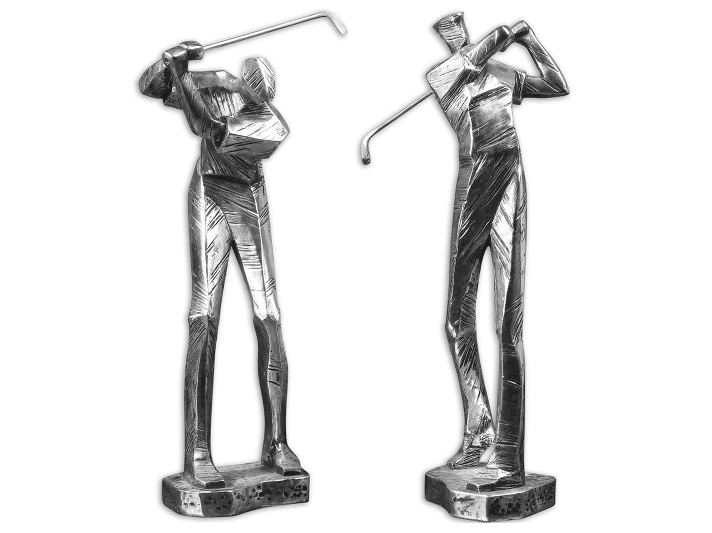 "Set of 2 Golfer Figurines 7""W x 16""H"