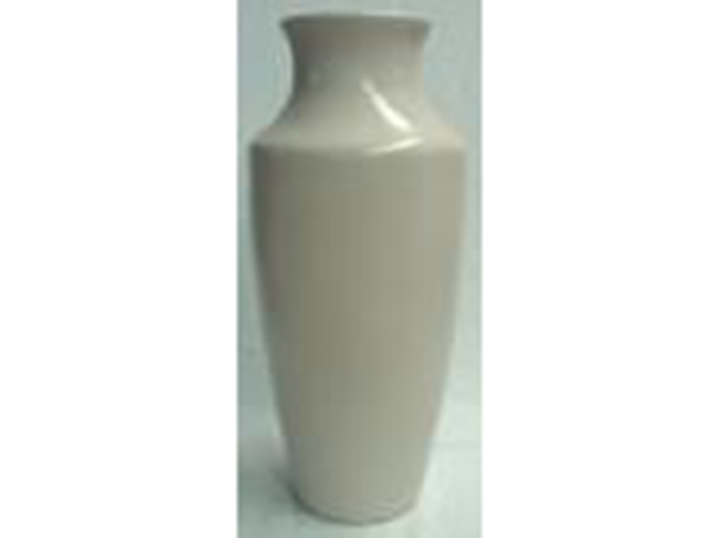 "Medium Cream Ceramic Floor Vase 14""W x 38""H"