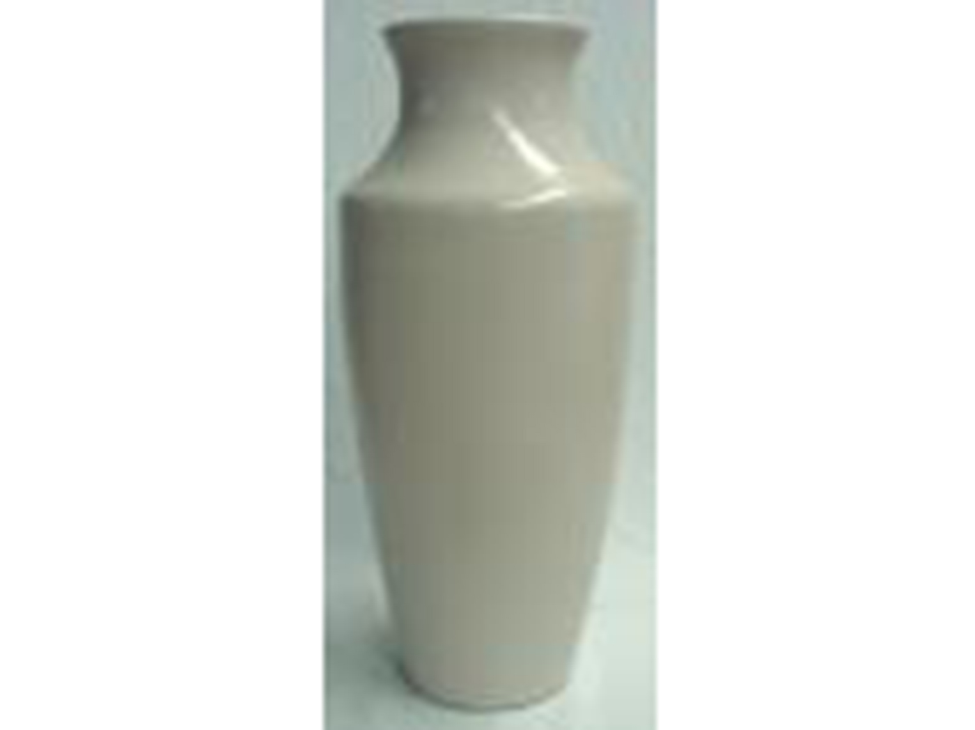 "Large Cream Ceramic Floor Vase 14""W x 44""H"