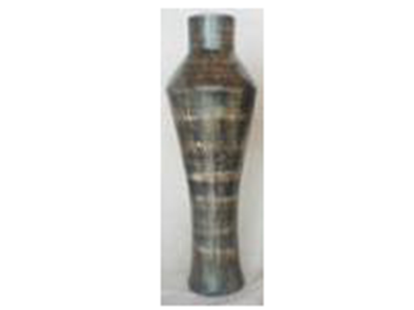 "Large Polilla Charcoal Ceramic Floor Vase 11x35""H"