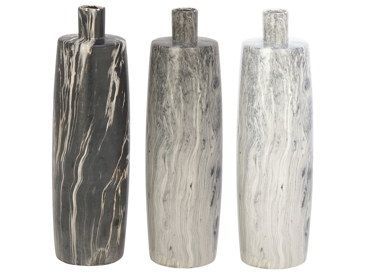 Assorted Ceramic Marbled Vase 13""