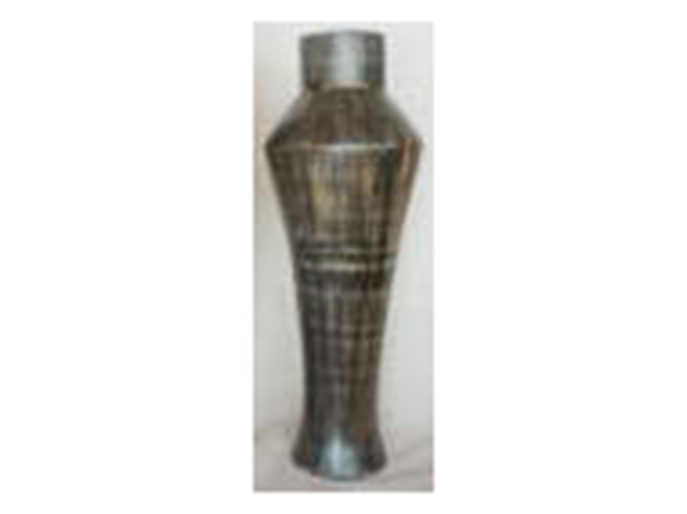 Medium Polilla Charcoal Ceramic Floor Vase 32X11""