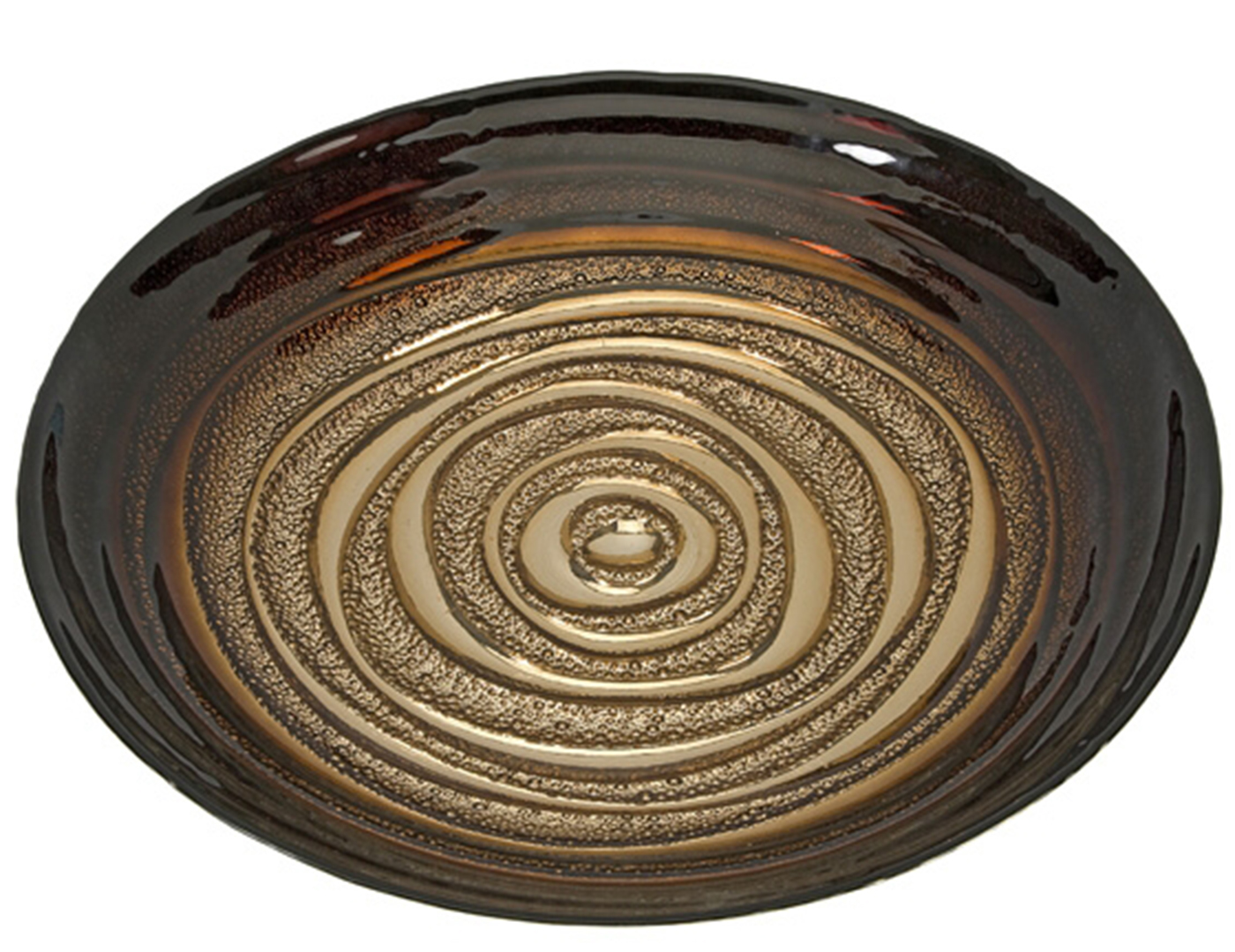 Spiral Glass Bowl 15.75""