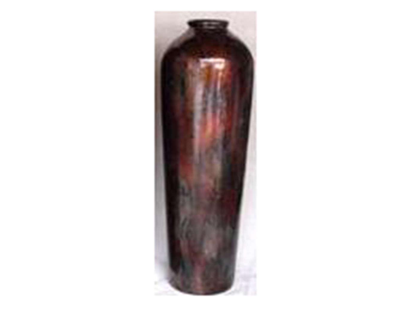 Short Cobre Rust Ceramic Floor Vase 12X36""