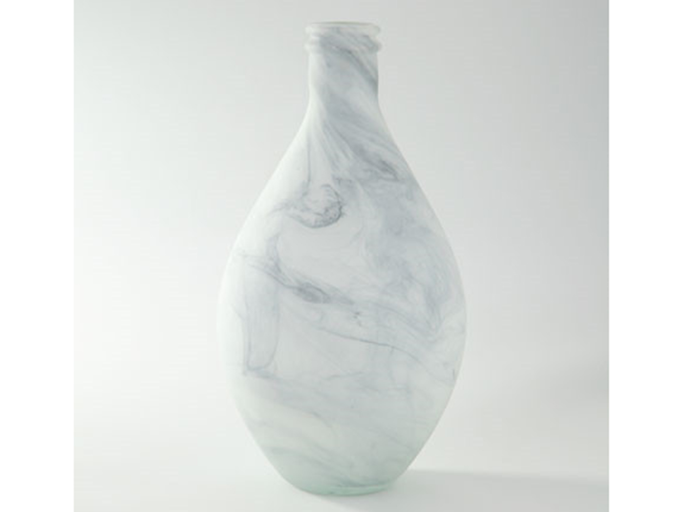 Glass Marbled Vase 8X14.5""