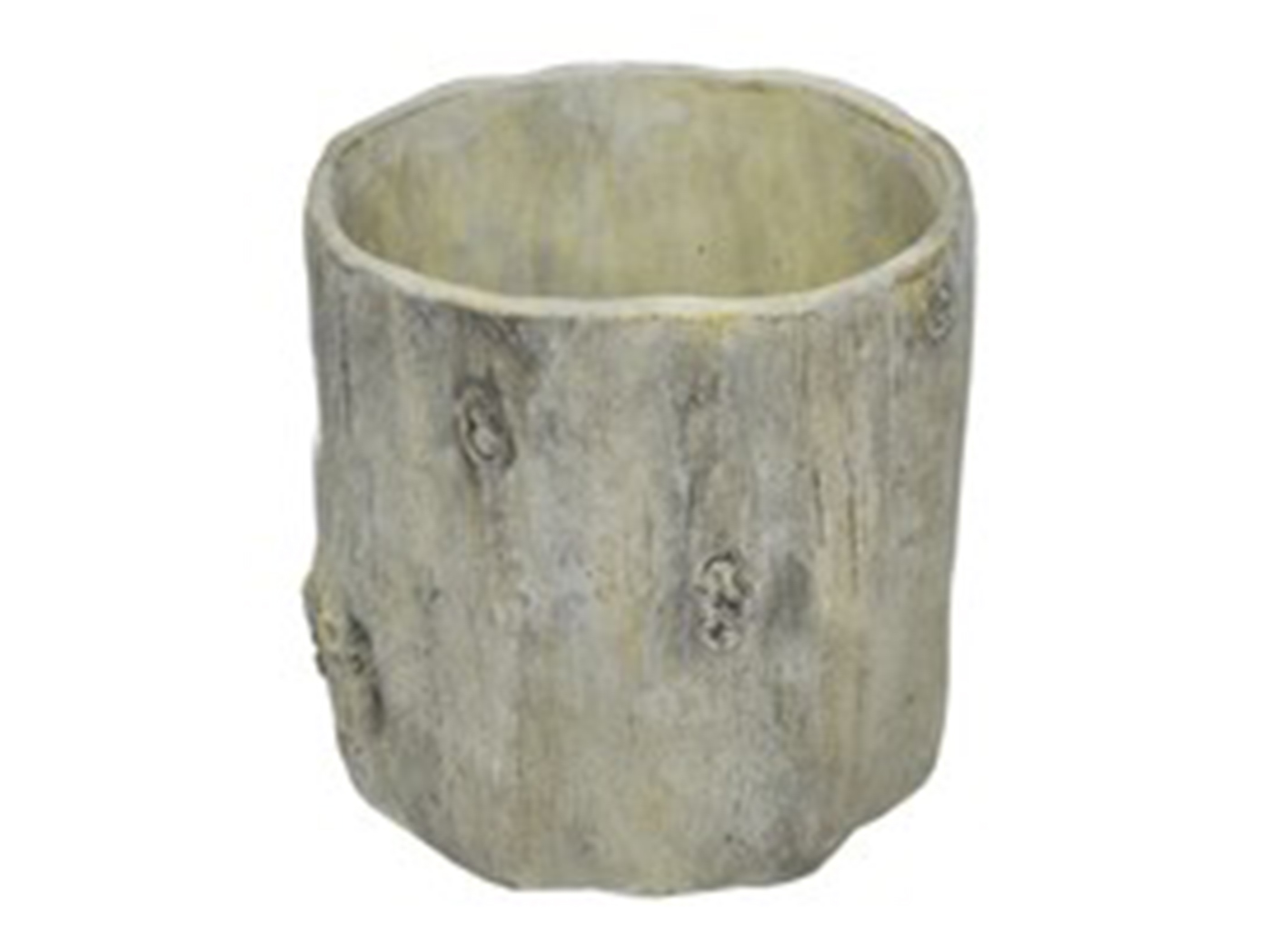 "Wood Look Planter 6.5X6.5""H"
