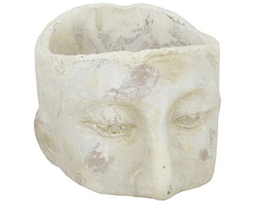 "Small Ceramic Head Planter 5""W x 3.25""H"