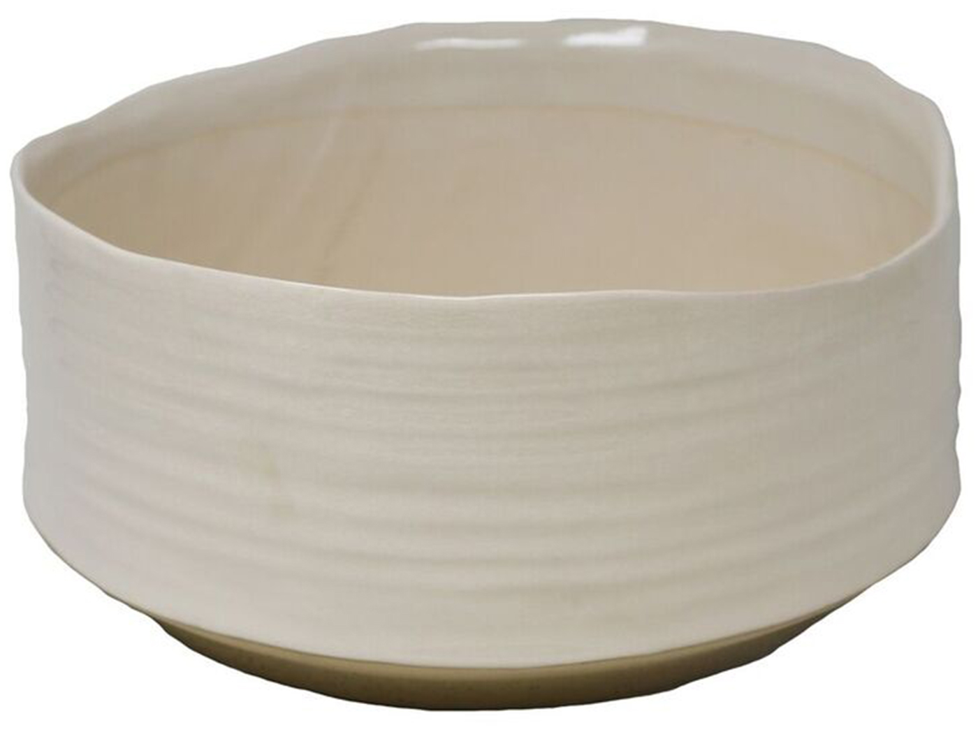 "White Ceramic Planter 11""W x 5""H"