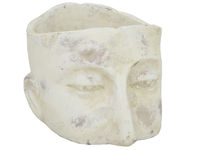 "Large Ceramic Head Planter 8""W x 6""H"