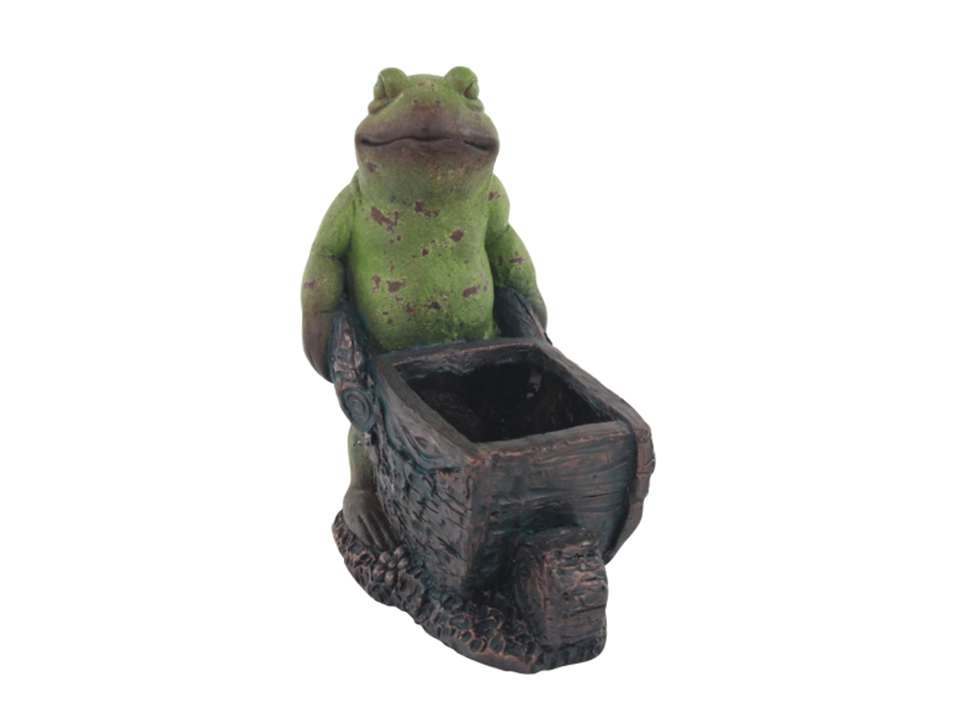 Wheelbarrow Frog Planter