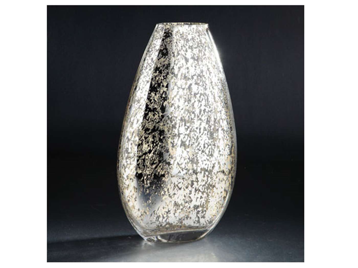 "Small Mercury Glass Vase 9.5""W x 12""H"