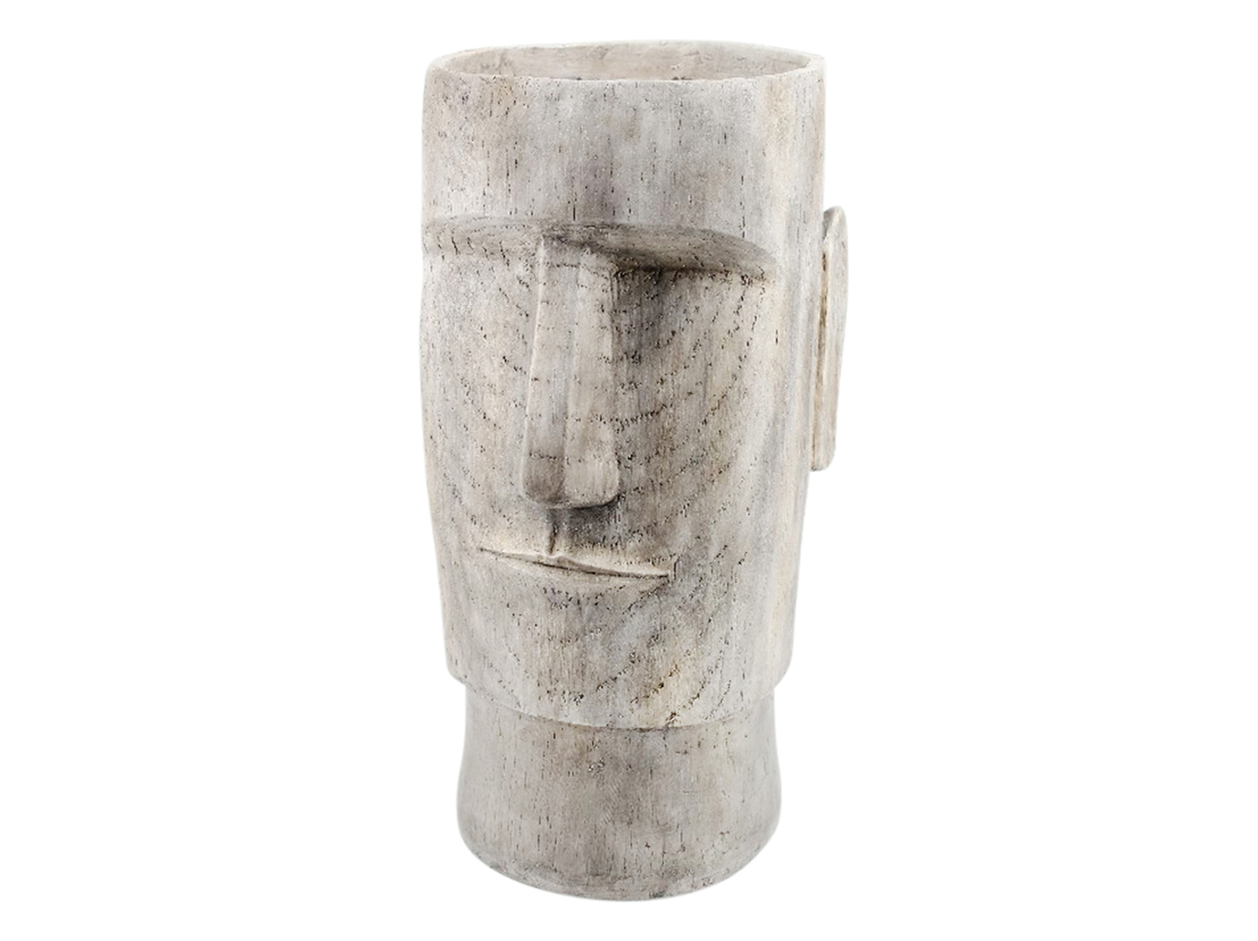 "Large Grey Face Vase 14""W x 24""H"