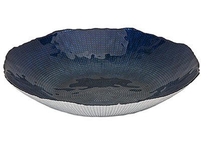 Indigo Glass Charger 15.75""