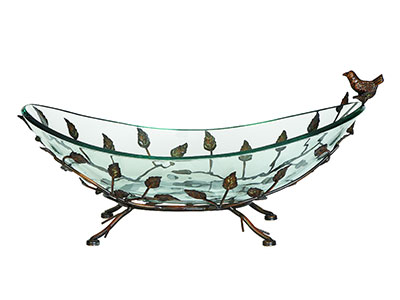 "Bird Bowl with Stand 22X8""H"