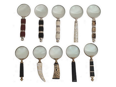 Assorted Traditional Magnifying Glass 10X3X3""