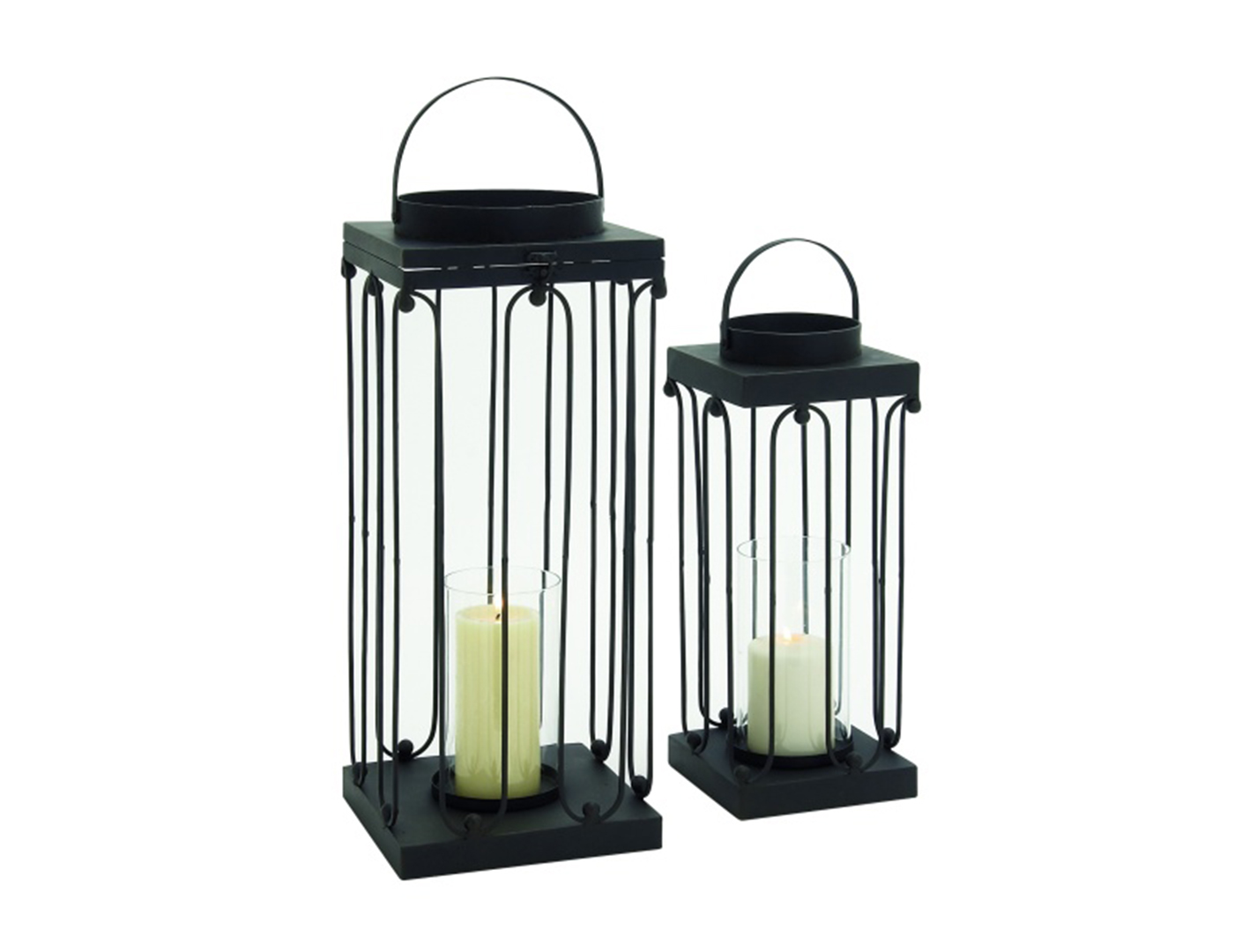 "Metal Lanterns Set 19/24""H"