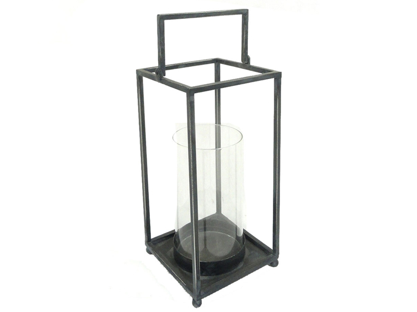 "Small Black Open Lantern 6.5""W x 13""H"