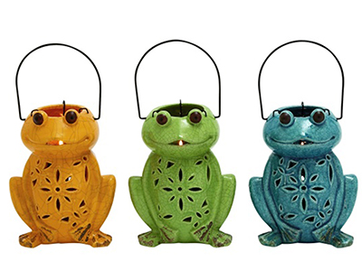 Assorted Frog Lanterns 6X13""