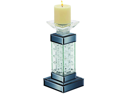 Glass Square Pillar Candle Holder 5X11""