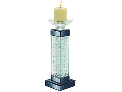Glass Square Pillar Candle Holder 5X15""