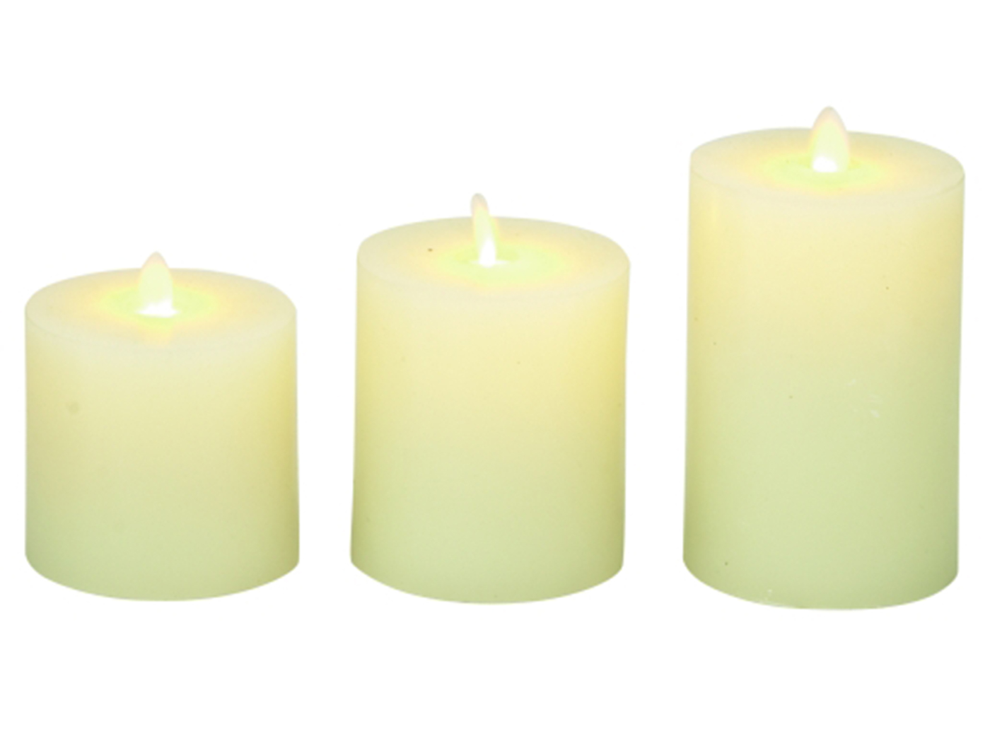 "Set of 3 Flameless Candle 5""H"