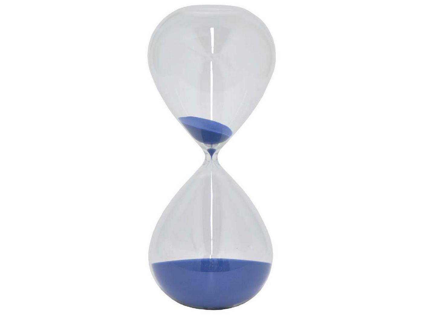 "Blue Sand Glass Timer 6.5""W x 15""H"