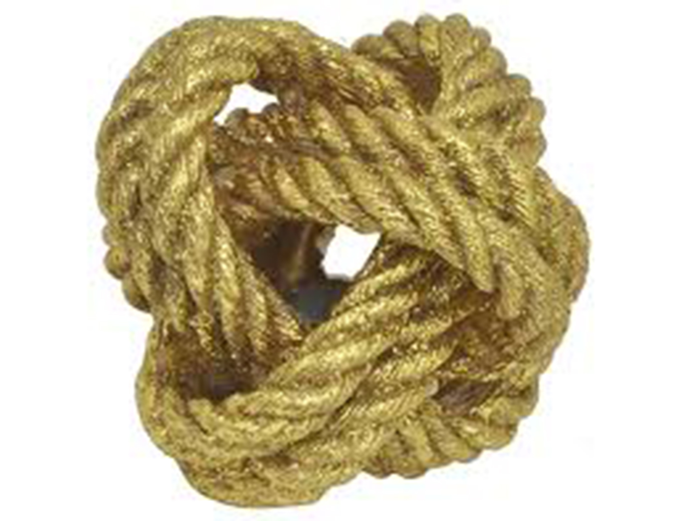 "Gold Rope Knot Decor 6""W x 5""H"