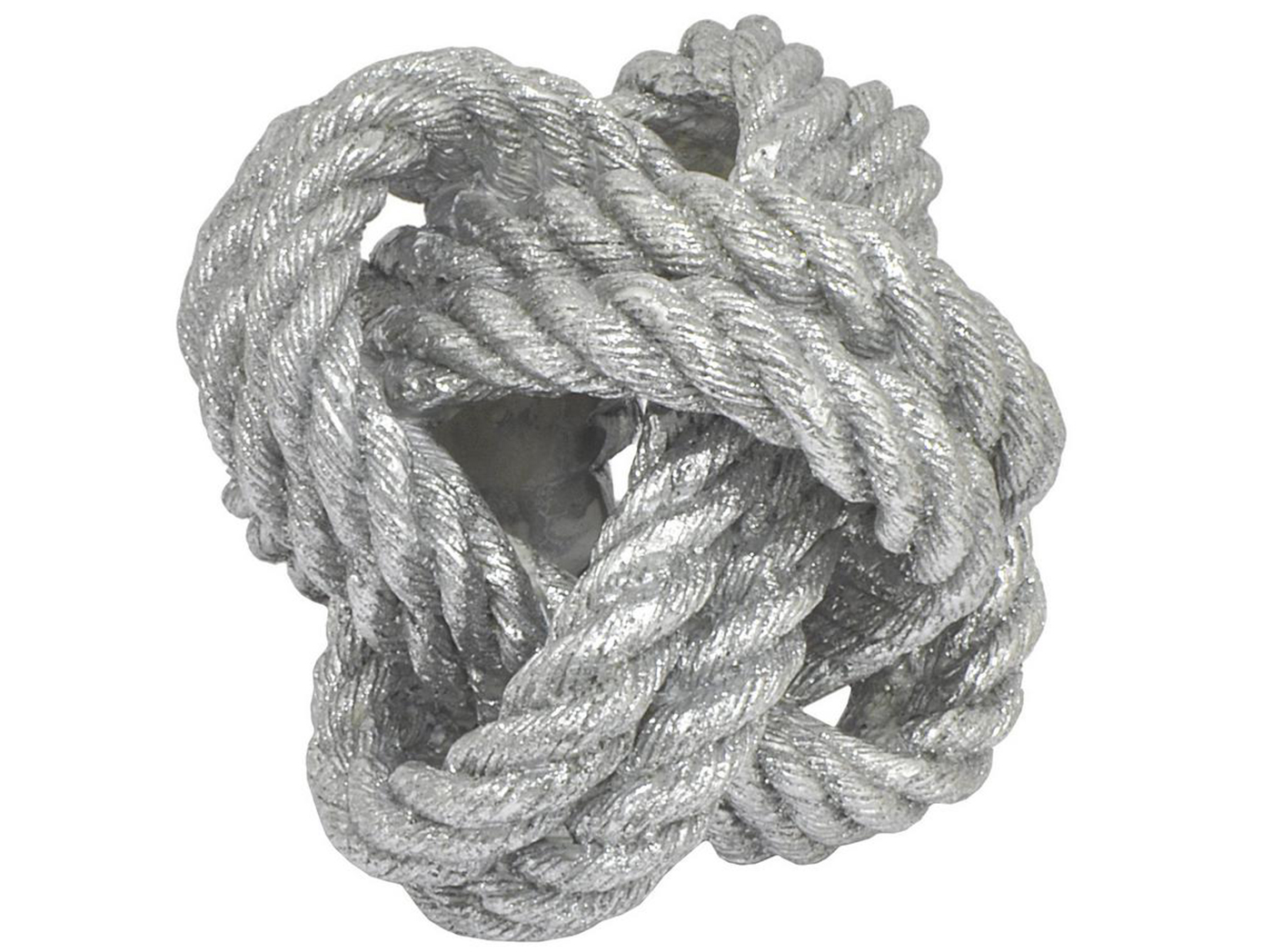 "Silver Rope Knot Decor 6""W x 5""H"