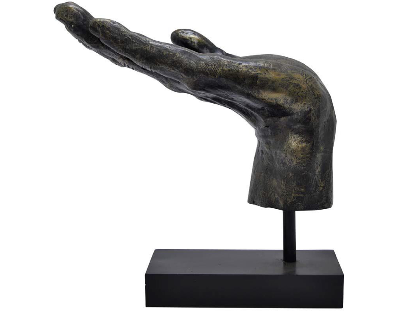 "Hand Out Statue 14""W x 14""H"