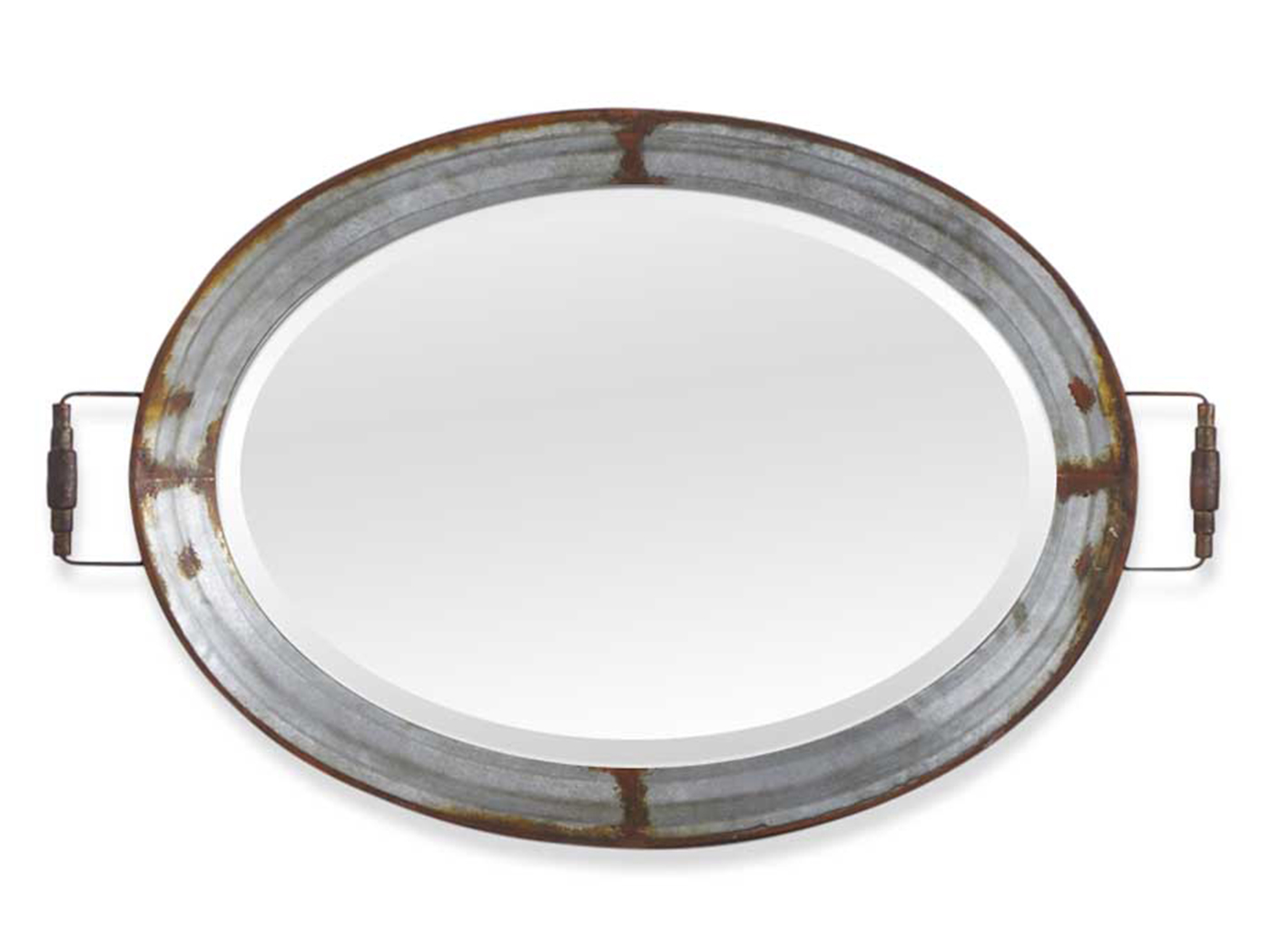 "Oval Mirror Tray 38""W x 24""L"