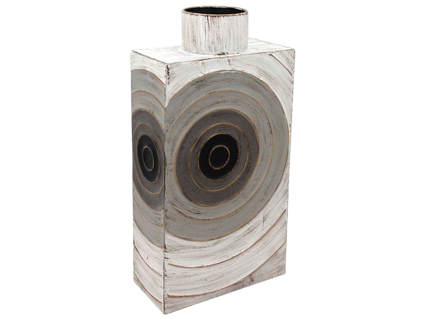 "Tall Metal Circles Vase 10X5X19""H"