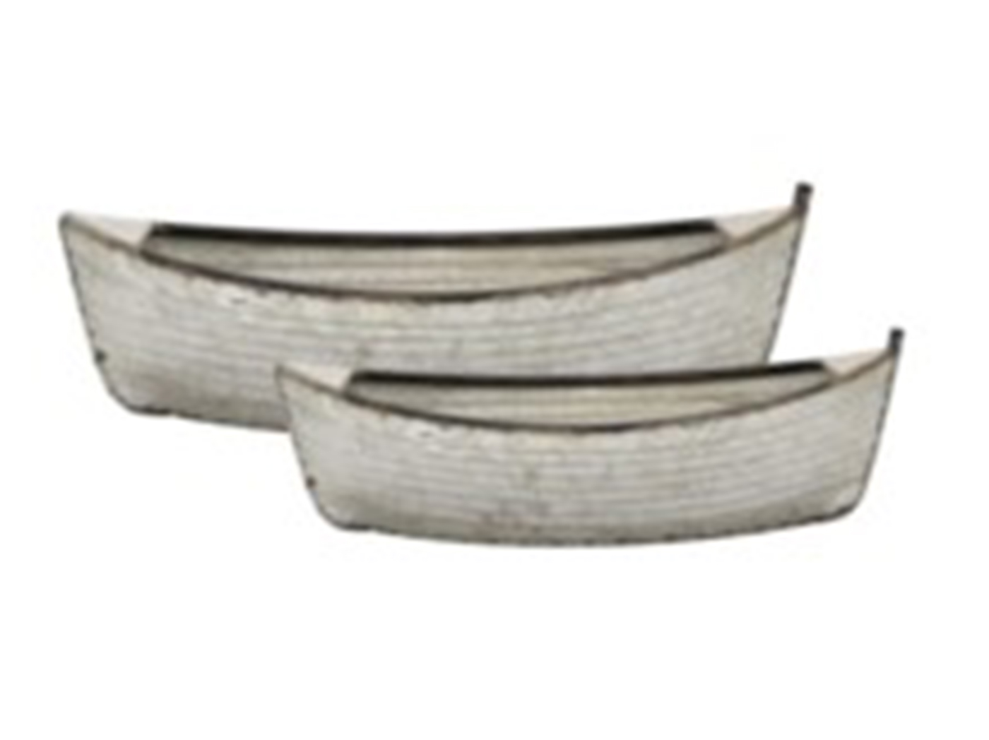 "Set of 2 Galvanized Boat Planters 24""L x 12""H"
