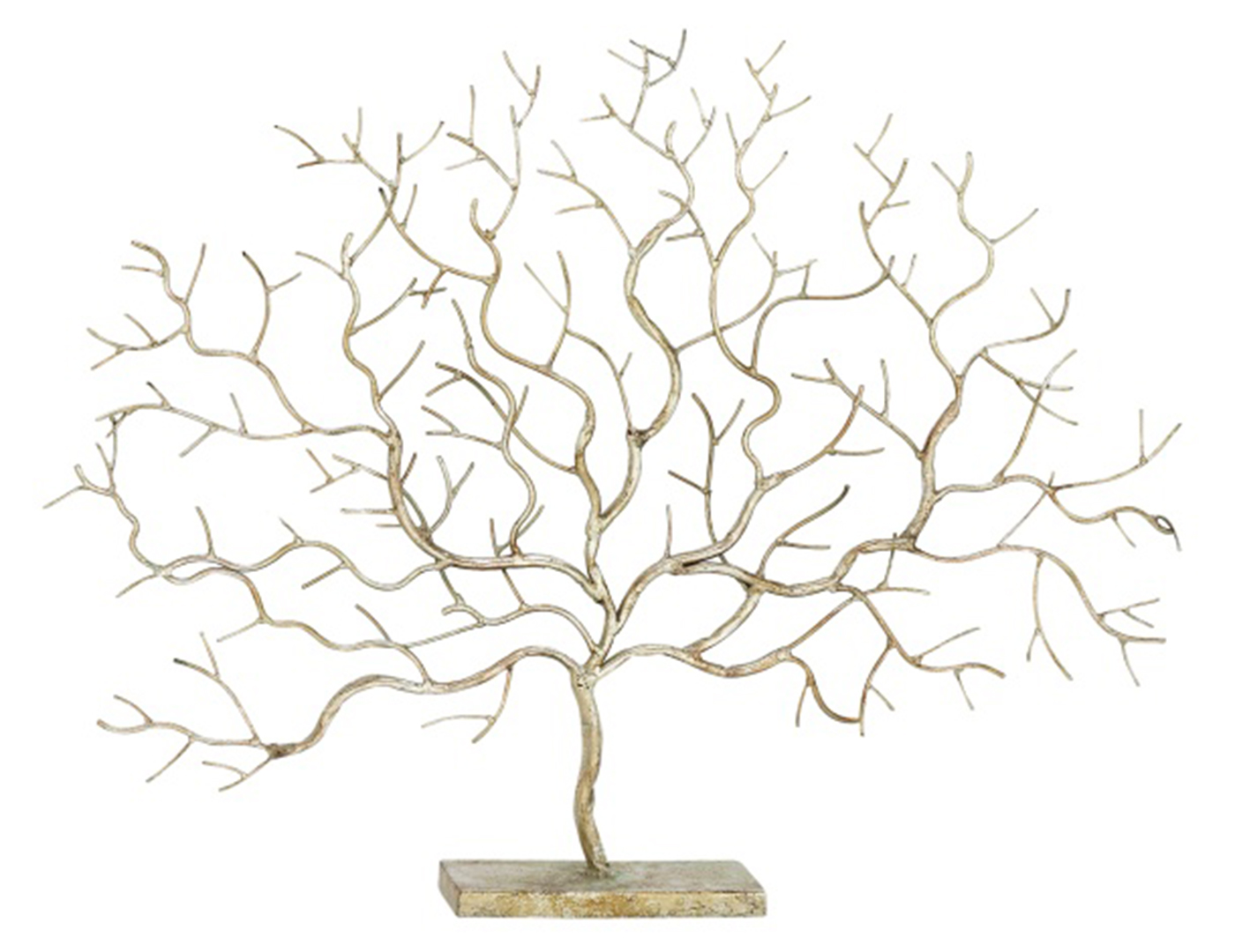 "Gold Metal Tree Sculpture 32X24""H"