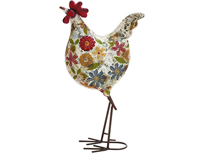 Floral Painted Rooster