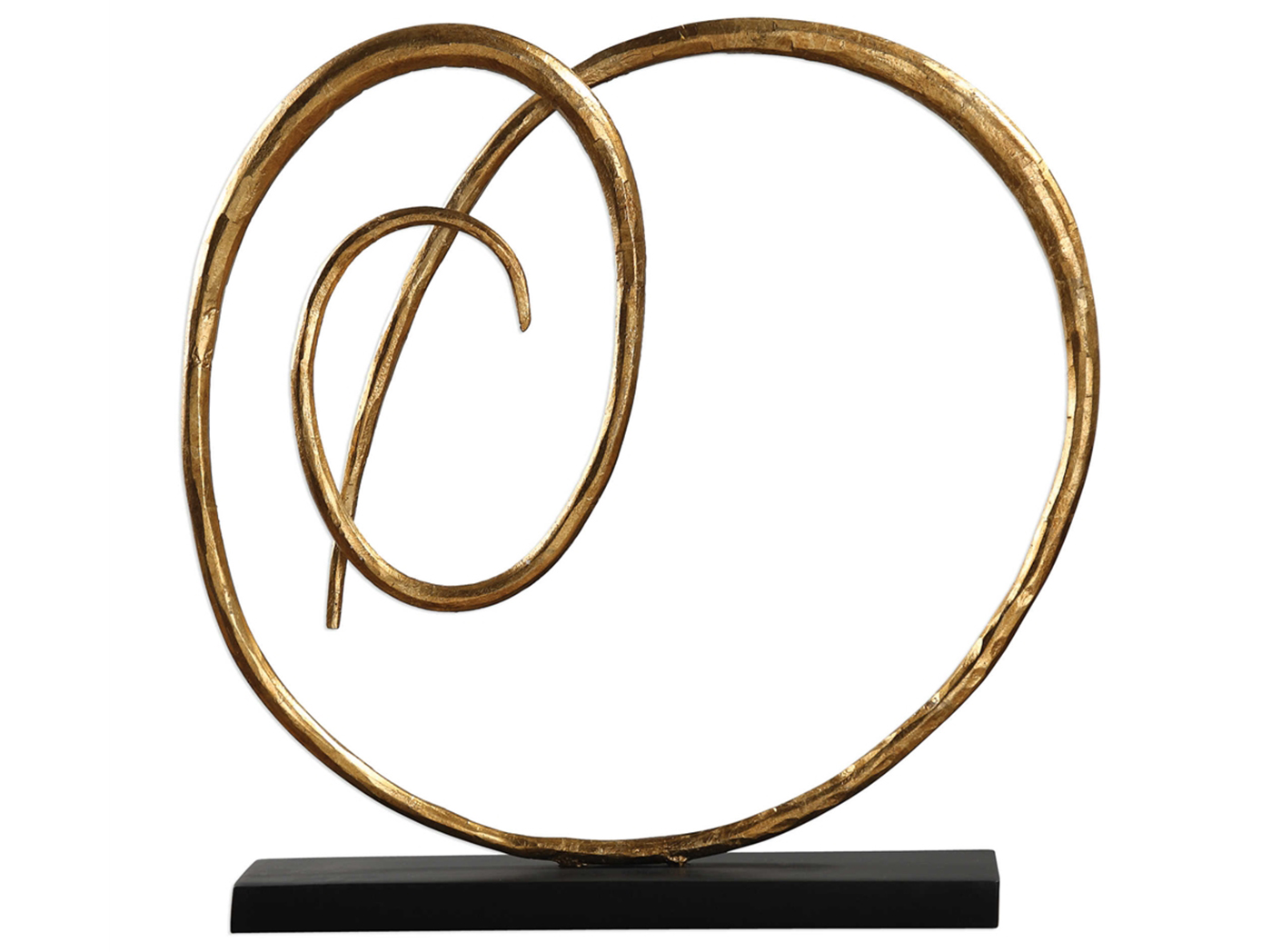 "Gold Twisted Iron Sculpture 20""W x 20""H"