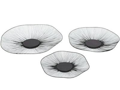 "Set of 3 Metal Wire Discs 16""/19""/23"""