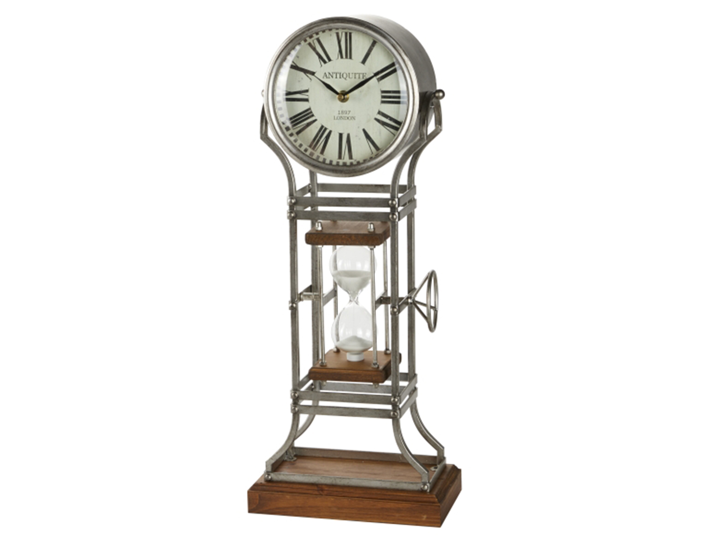 "Hourglass Table Clock 9""W x 23""H"