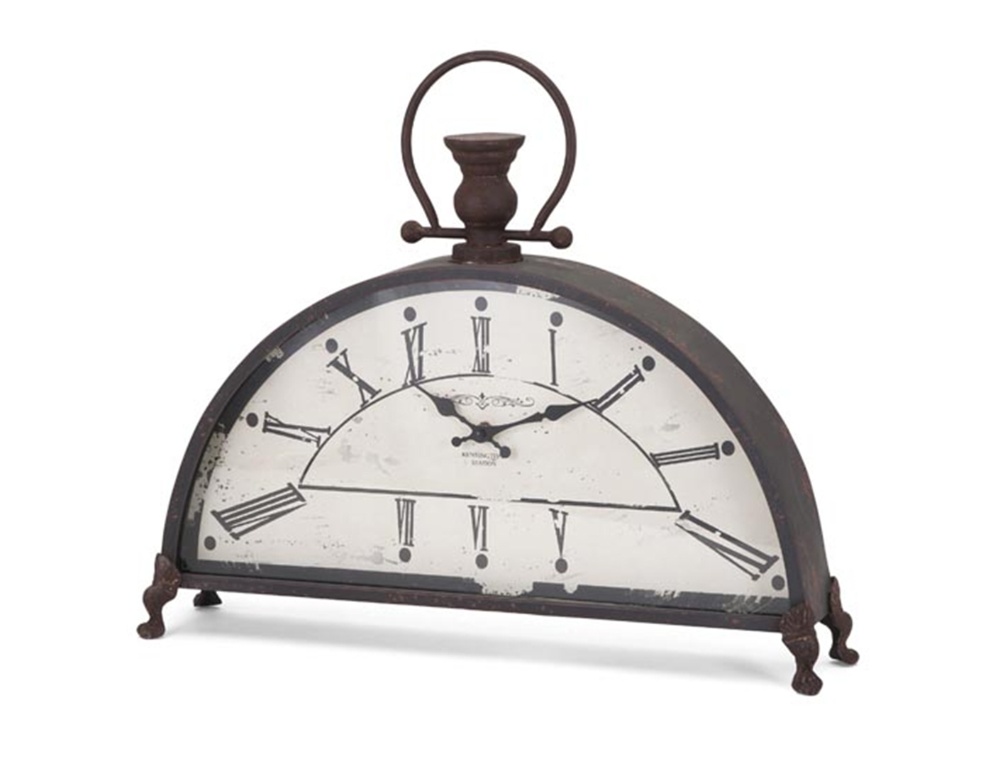 "Ant.Black Dome Table Clock 21x18"" H"