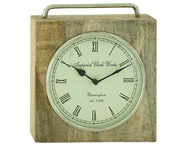 "Square Table Clock 10""x11""H"